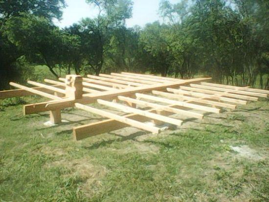 yurt bouwen begint met stevige grondstructuur
