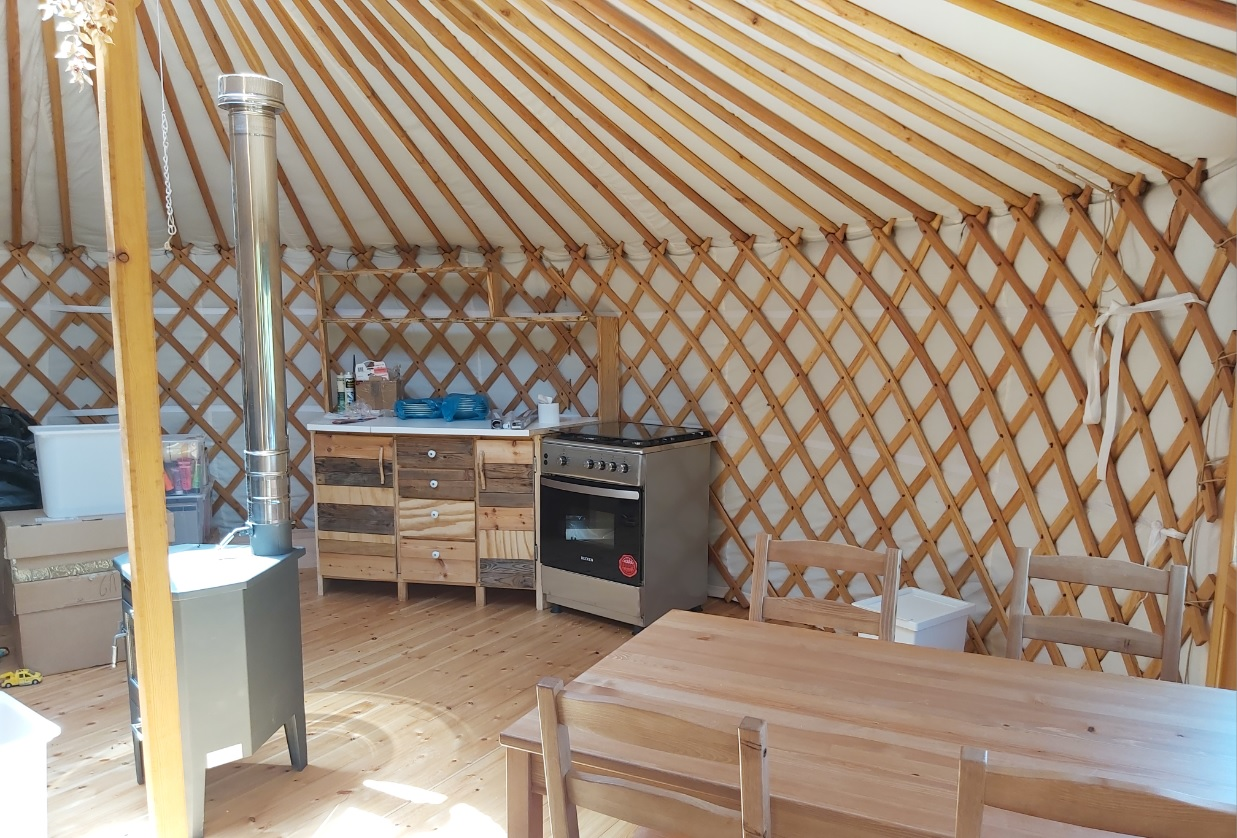 keuken in yurt